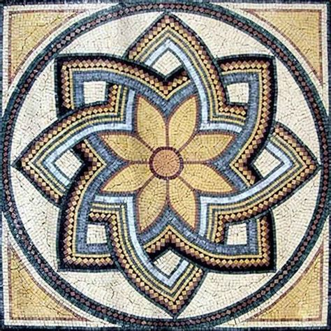 flower mosaic octavia mediterranean mosaic