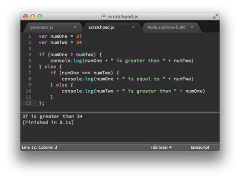 console js javascript console in sublime text caleb grove