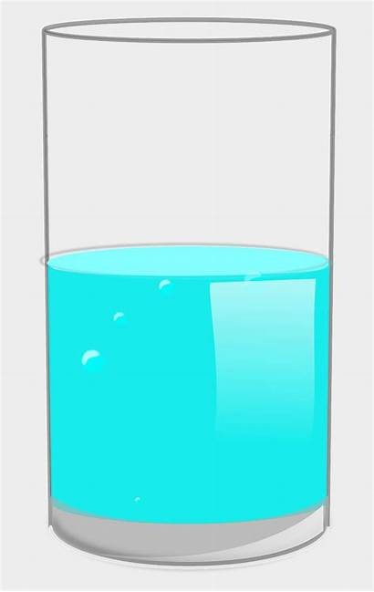 Cup Half Clipart Glass Tumbler Liquid Cartoons
