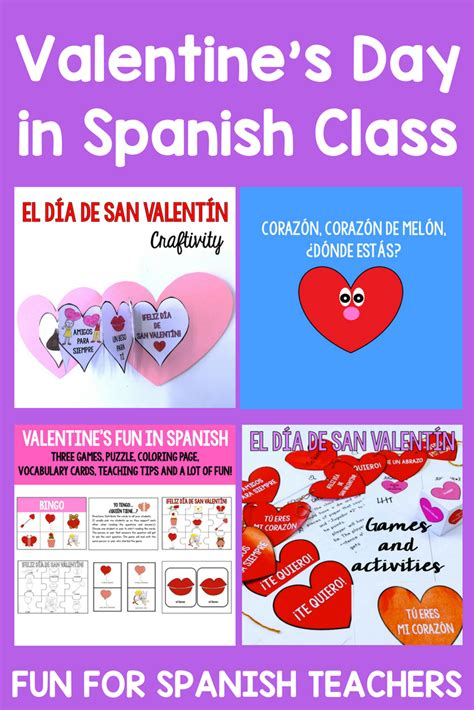 resources  celebrate valentines day  spanish class