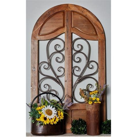 I would like to enlist here some of the wall decor concepts which you may find walls on the opposite side of the window should be painted with lighter colours so as to reflect the light into the whole room. Shop Rustic 58 Inch Wood and Iron Cathedral Window Wall Decor by Studio 350 - On Sale - Free ...