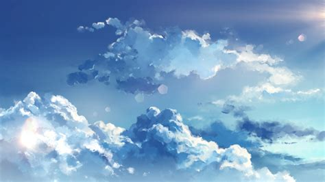 Anime Sky Wallpaper - 2000x1126 anime clouds sky wallpapers