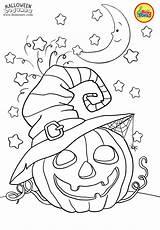 Coloring Halloween Pages Preschool Cute Printables Bojanke Printable Fall Scary Sheets Bontontv Crafts sketch template