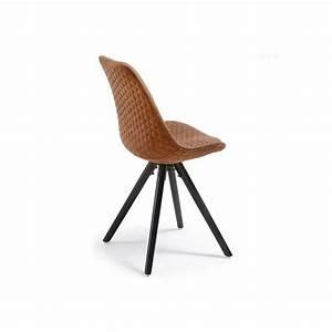Pied De Chaise Scandinave : chaise design scandinave pieds bois en tissu matty marron pieds noir ~ Teatrodelosmanantiales.com Idées de Décoration