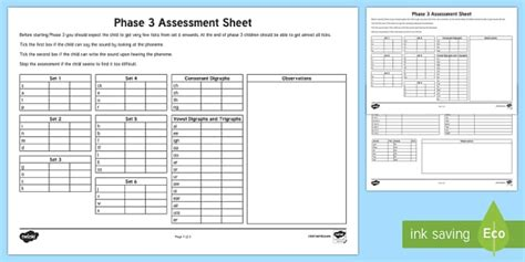 phase  phonics letters  sounds assessment sheets