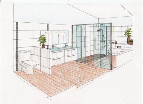 comment dessiner une chambre en perspective 07 conseils en aménagement séjour salle de bain