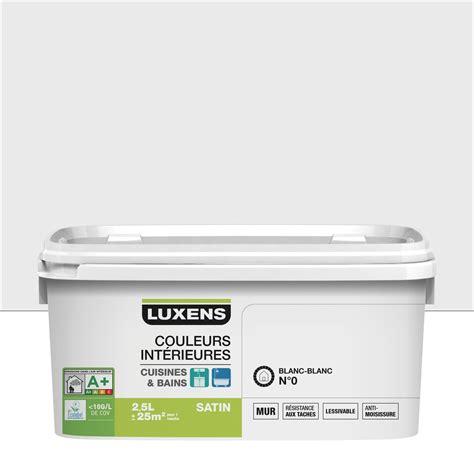 peinture lessivable cuisine peinture couleurs intérieures luxens blanc blanc 0 2 5 l leroy merlin