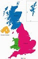 UK Map - blank Political UK map with cities | Map, United ...