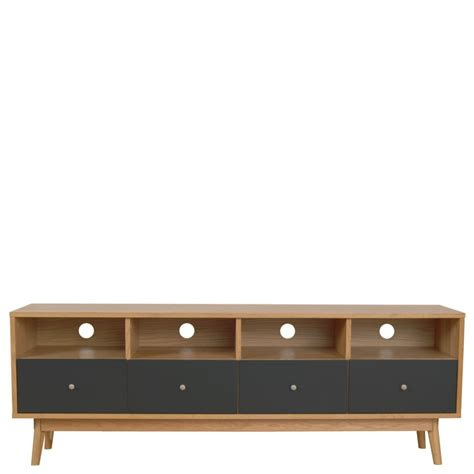 canapé desing meuble tv scandinave 4 tiroirs skoll by drawer