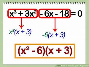 How to Factor a Cubic Polynomial: 12 Steps (with Pictures)  Factor