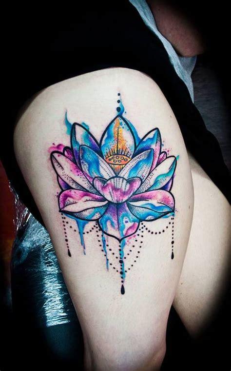elegant lotus flower tattoos meanings april
