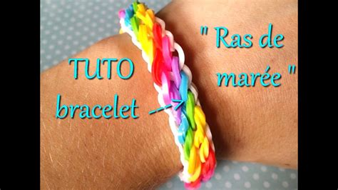 bracelet elastique tuto tuto bracelet 233 lastique quot raz de mar 233 e quot rainbow loom