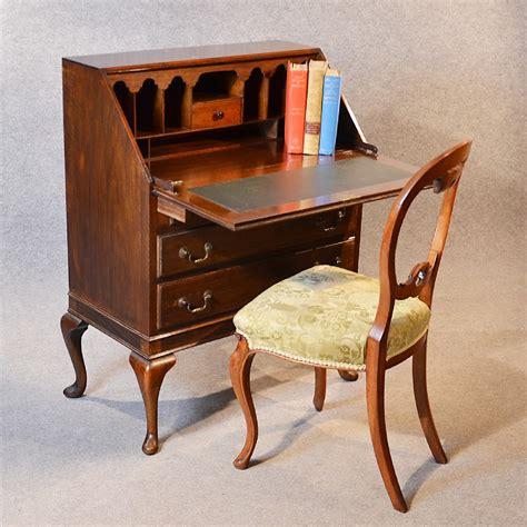 queen anne writing desk antique bureau writing desk mahogany english edwardian