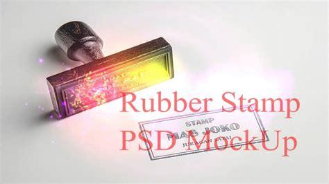 rubber stamp psd mockup collaboration photoshop