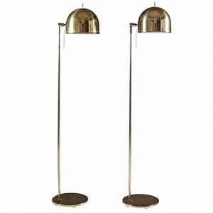 pair of floor lamps in brass by bergboms sweden for sale With stockholm 1 light floor lamp