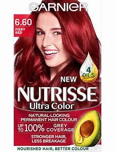 660 Fiery Red Hair Colour Nutrisse Garnier