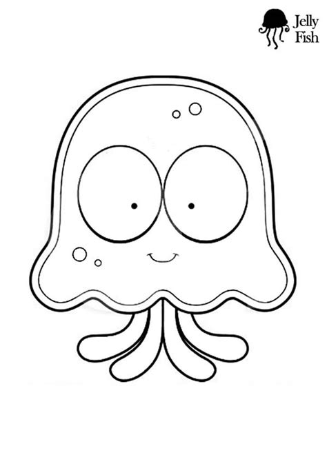 jellyfish cartoon coloring pagejpg  print
