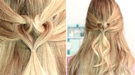 heart hairstyle  medium long hair tutorial frisuren fuer