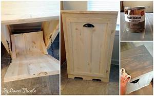 Wood Tilt-Out Trash Can Cabinet Dawn Nicole Designs®