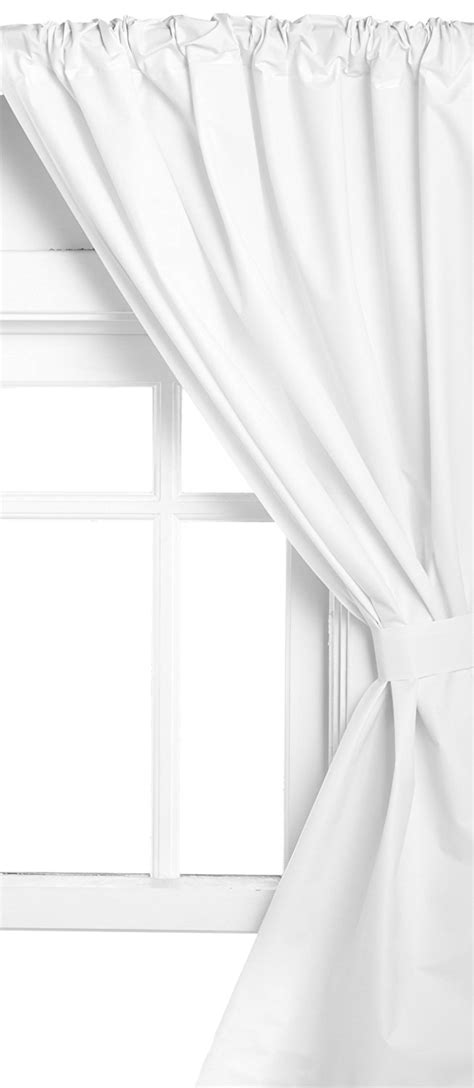 carnation home vinyl bathroom window curtain in white wc