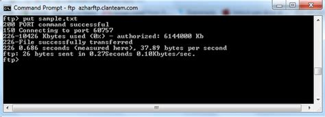 Access Ftp Server Using Windows Command Prompt
