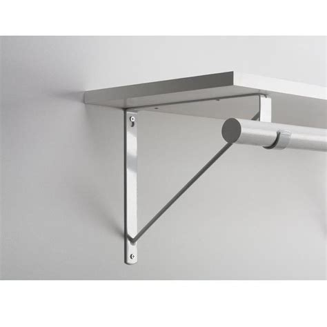 closet rod support everbilt white heavy duty shelf and rod support shelves