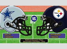 Backyard Football 2002 Game 4 Dallas Cowboys VS