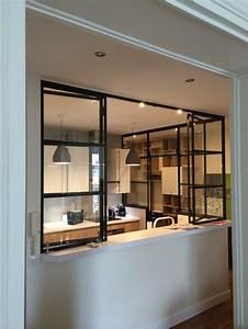 Verrière Intérieure Ikea : cuisine semi ouverte avec verriere avec cuisines semi ~ Melissatoandfro.com Idées de Décoration