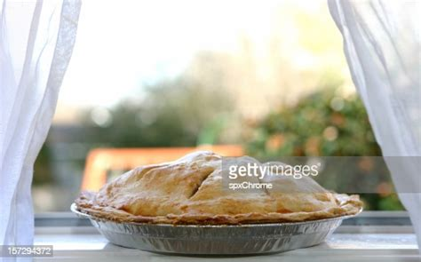 apple pie cooling  window stock photo getty images