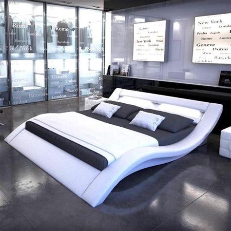 meubles bureau occasion lit design led dina 160x200 blanc achat vente