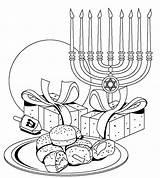 Hanukkah Coloring sketch template