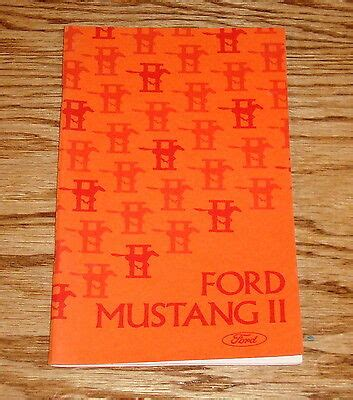 original  ford mustang ii owners operators manual
