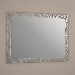 miroir lumineux led salle de bain anti buee 80x60cm With miroir salle de bain sans buee