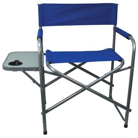 folding directors chair with side table canada texsport steel director s chair with table blue 293814