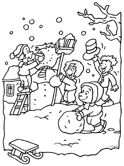 Kleurplaat Winter by 112 Best Winter Kleurplaten Images On