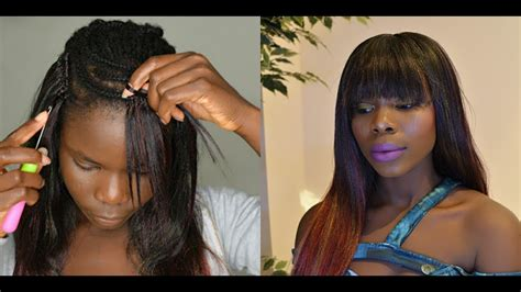 Straight Crochet Braids With Bangs
