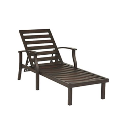 shop allen roth gatewood brown aluminum patio chaise