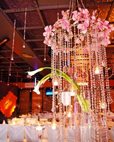 club bat mitzvah party theme ideas hanging crystal