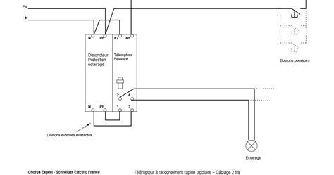 schema de raccordement telerupteur schneider schema