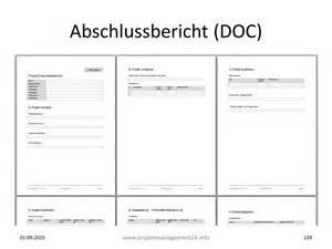 Projekt Abschlussbericht In Word Mit Vorlage Zum