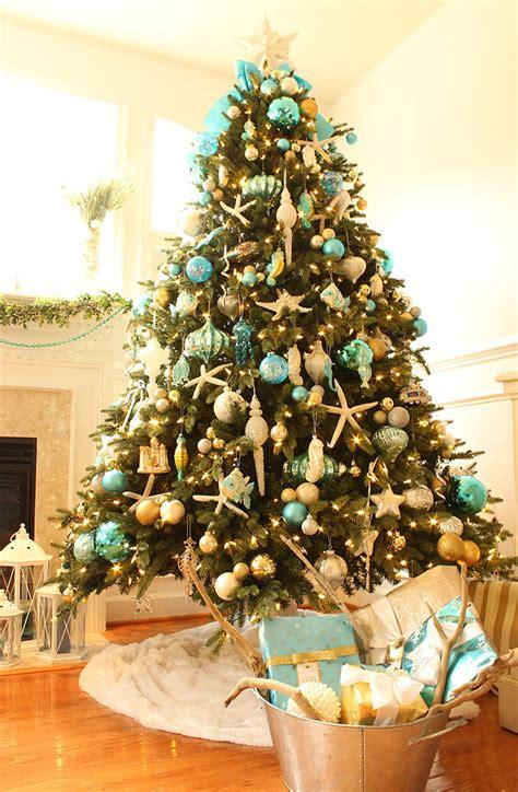 turquoise christmas decor house  turquoise