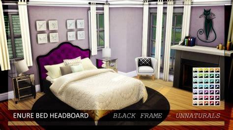 bed headboard unnaturals  enure sims sims  updates