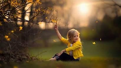Flower Yellow Sitting Wearing Grass Touching Sunlight
