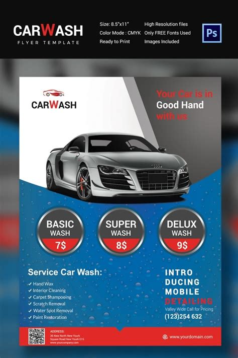 Get inspired by 89 professionally designed car wash & detailing flyers templates. Car Wash Flyer - 48+ Free PSD, EPS, Indesign Format ...