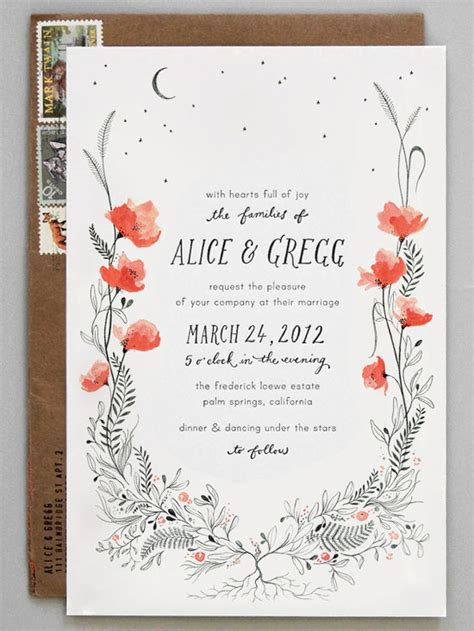 whimsical wedding card designs youll    big day