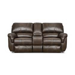 view simmons 174 bucaneer cocoa reclining console loveseat