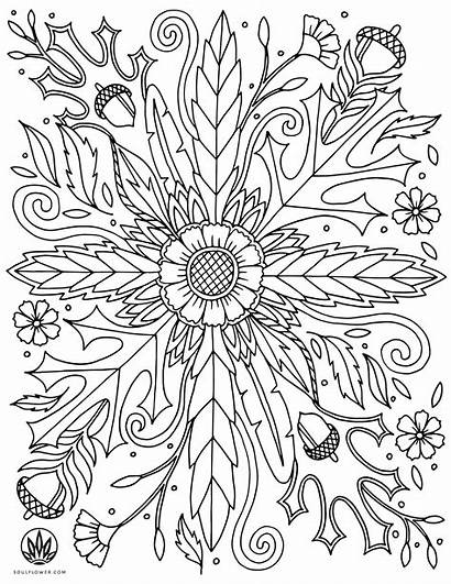 Coloring Thanksgiving Flower Pages Mandala Adult Flowers