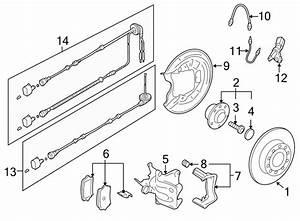 2011 Volkswagen Jetta Abs Wheel Speed Sensor Wiring Harness  Beam  Headlamp  Wagon
