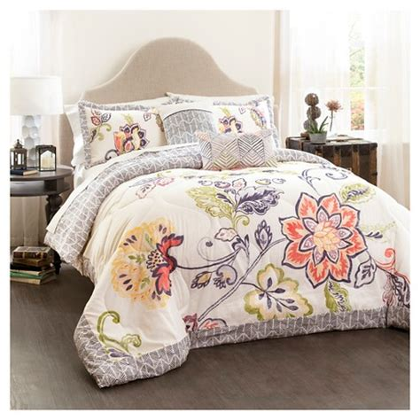 Lush Bedding Sets by Aster Quilted Comforter Set 5 Lush Dcor 174 Target