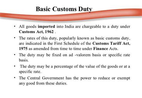 Customs Duty Ppt